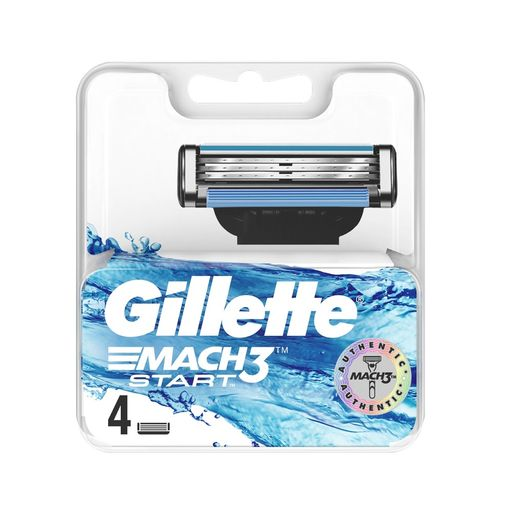 Gillette Mach 3 Start Кассеты, 4 шт.